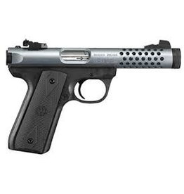 """Ruger Ruger Mark III 22/45 Lite 22LR Blue Aluminum Ported Slide 4.4"""" TB"""