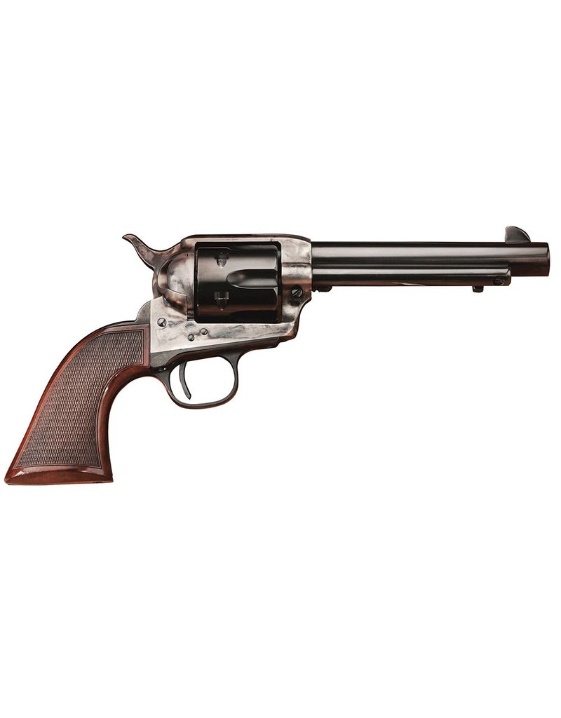 Taylor's & Co Taylor's & Co Uberti Smoke Wagon Deluxe 357mag 4.75 inch 6rd SAO Blued w/ Case Hardened Frame Walnut Grips