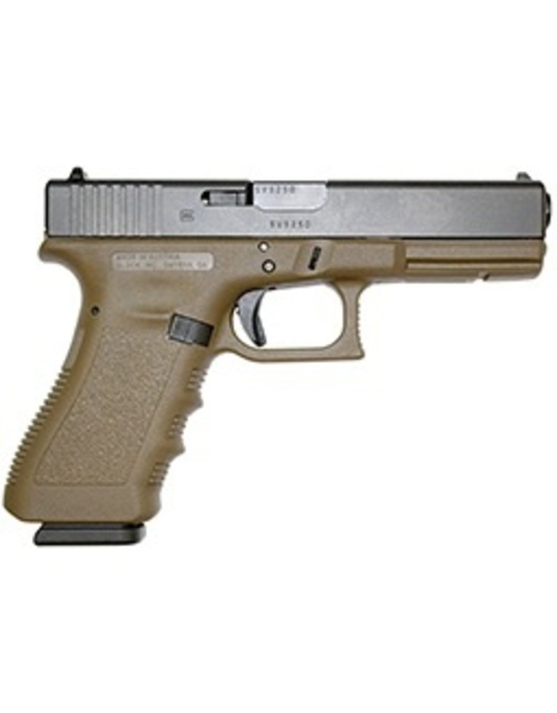 Glock Glock G17 9mm 4.48 Inch 2-15rd Altered FDE