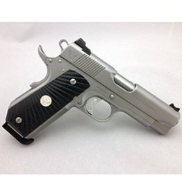 Wilson Combat Wilson Combat 1911 Professional  45ACP Armor Tuff Bead Blast Polished Barrel, Bobtail, Sterling Silver Grip Medallion Extreme De-Horn Carry Melt 2-8rd