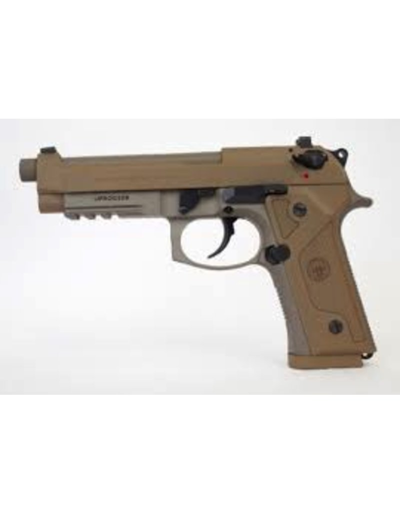 """BERETTA Beretta 92FS M9A3 9mm 5.2"""" Extended TB NS Oversized Mag Release 3-10rd FDE"""