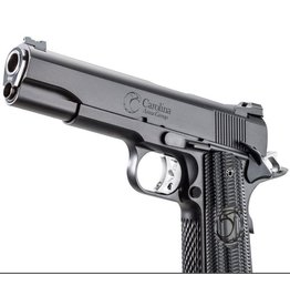 "Carolina Arms Group Carolina Arms Group 1911 Trenton Tactical Black 45acp 5"" Warren Sights Kart NM Reverse Crown Barrel Custom Grips 2-8rd"