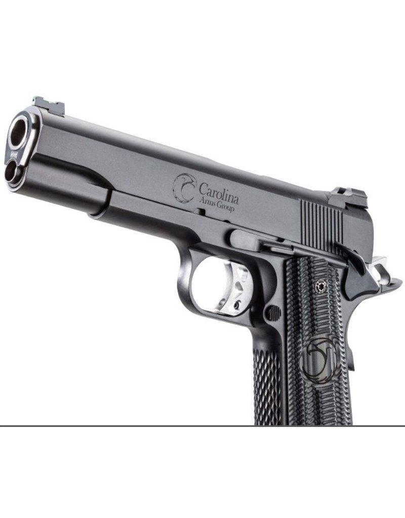 "Carolina Arms Group Carolina Arms Group 1911 Trenton Tactical Black 45acp 5"" Warren Sights Kart NM Reverse Crown Barrel Custom Grips 2-8rd"