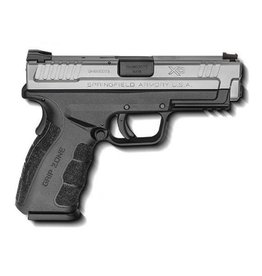 SPRINGFIELD Springfield Armory XD9 MOD2 Service 9mm 4‰Û Melonite Finish Fiber Optic Front Sight Low Profile Combat Rear Sight Bi-Tone GripZone Texture 2-10rd