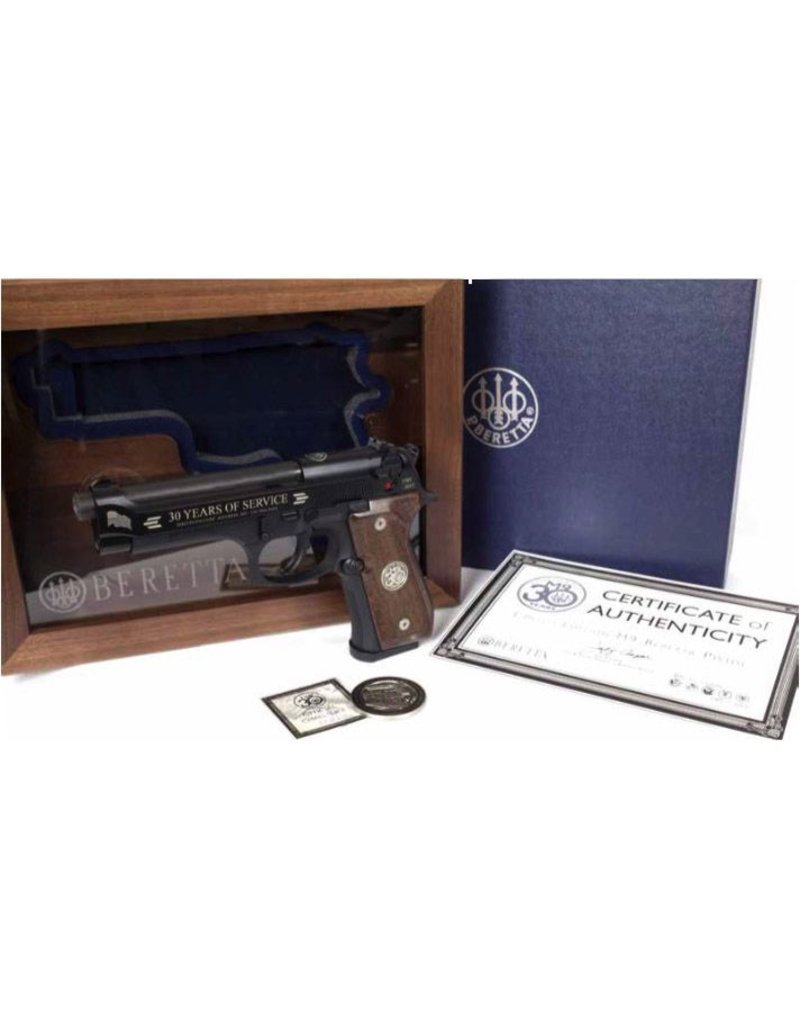 BERETTA Beretta M9 9mm 30th Anniversary Limited Edition 1of 2015 Walnut Display Case 2-15rd Pistol