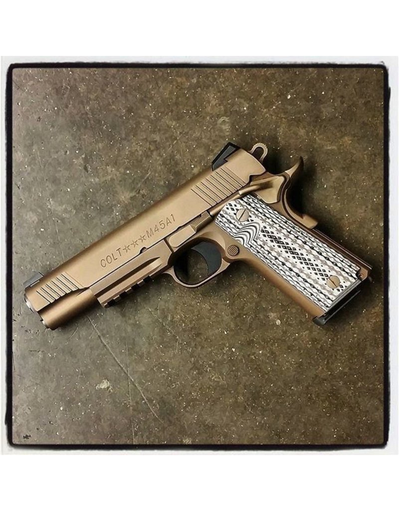 COLT Colt 1911 M45A1-CQBP 45acp 5‰Û Desert Sand Ion Bond Novak Sight Tan/Black Grips 2-7rd