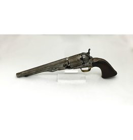 COLT Colt Fluted Cylinder Model, full cylinder flutes and no cylinder scene, 8 in wood grips 4 screw frames. 1 of 900 shipped to the NAVY in May 1861. Factory Letter
