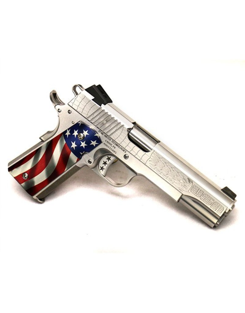 Cabot Cabot Guns 1911 American Joe <br /> C-Class Engraved .45 acp 5in American Flag Aluminum Grips 1-8rd