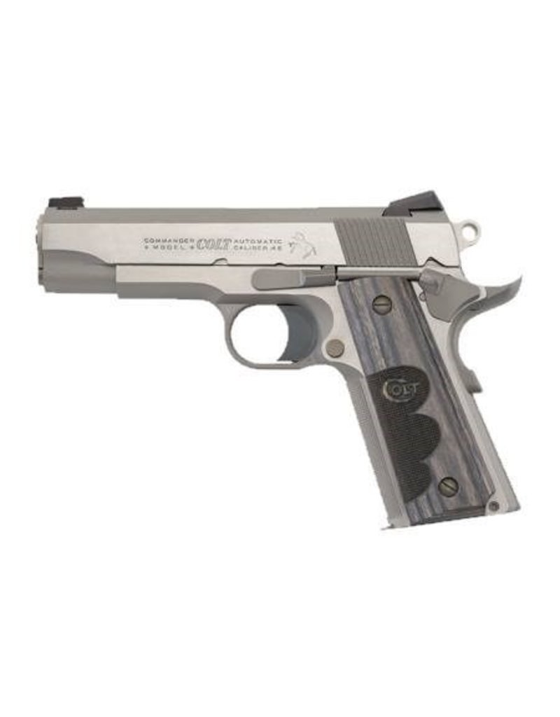 COLT Colt Wiley Clapp Commander Talo Exclusive, .45acp Stainless 4.25‰Û <br /> 8rd