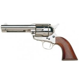 Taylor's & Co Taylor's & Company Cattleman Nickel Plated Walnut Grips Charcoal-Blue Screws .357 Mag 4.75 Inch