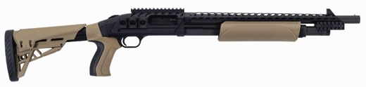 "MOSSBERG Mossberg 500 ATI Scorpion 12GA 18.5"" Matte Black W/ FDE Furniture"