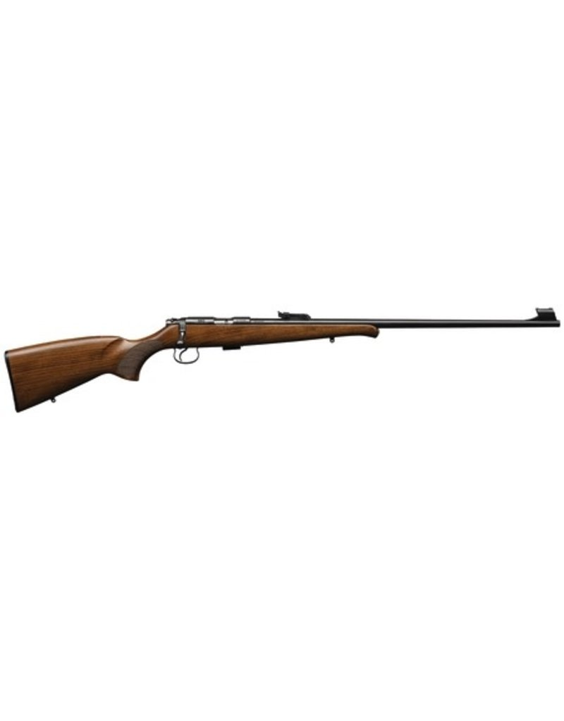 CZ CZU Model CZ 455 Training .22 Long Rifle 24.8 Inch Blued Barrel Beechwood Stock With Schnabel Forend 5 Round