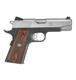 Sturm Ruger Ruger SR1911 Lightweight .45 ACP 4.25 Inch Barrel Low-Glare Stainless Steel Novak 3-Dot Sights Checkered Thin Grip 7 RoundSR1911 Lightweight