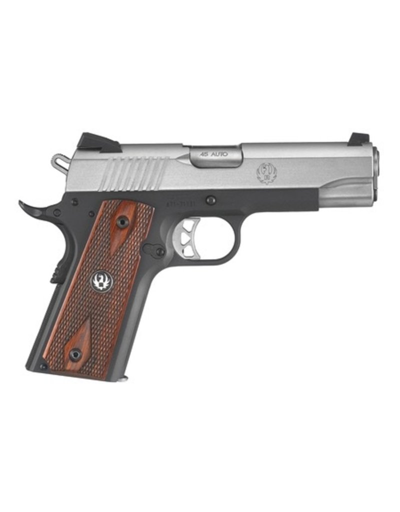 Sturm Ruger Ruger SR1911 Lightweight .45 ACP 4.25 Inch Barrel Low-Glare Stainless Steel Novak 3-Dot Sights Checkered Thin Grip 7 Round<br /> SR1911 Lightweight