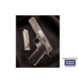 Ed Brown Ed Brown Signaure Edition Stainless Steel Fully Engraved 5in Mirror Finisg Slide Skip Line Checkering .45acp