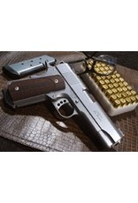 Ed Brown Ed Brown Compact Stainless 4.25 in Commander Style Stainless Steel <br /> Checkered Laminate Grips  Rd Butt 9mm