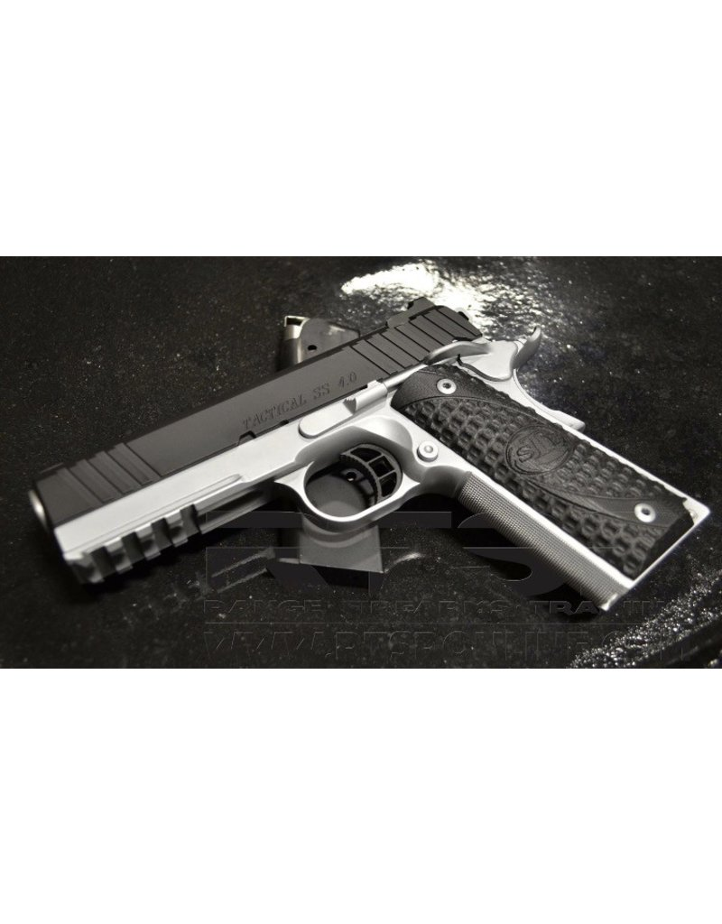 "STI STI Tactical SS 1911 4"" Bull Chrome/Graphite Black - 45acp 1-6rd NS"