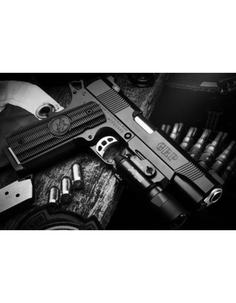 Nighthawk Nighthawk Custom Global Response Pistol, Recon,.45 ACP with Surefire X300 Ultra Light IncludedStainless Steel Upgrade, All Stainless Steel Controls- Includes: Safety, Beavertail, Mag Catch, Pins, and Slide Stop