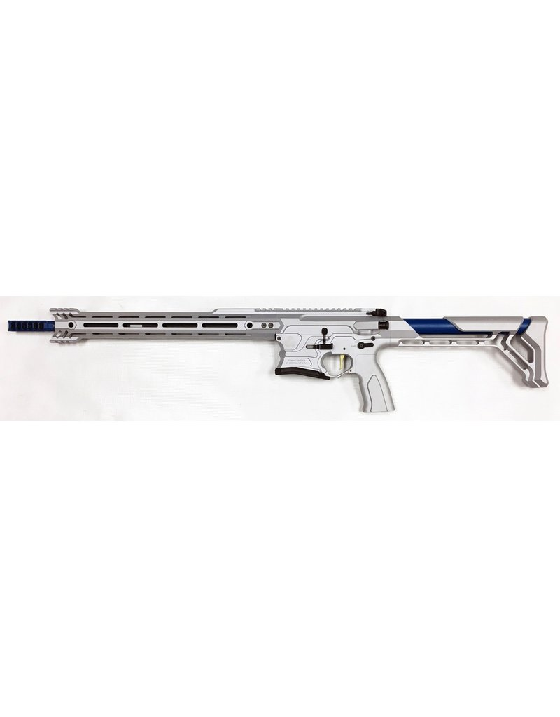 Cobalt Kinetics Cobalt Kinetics Edge Team Replica Cobalt Blue Grey .223 Wylde-5.56 <br /> Match Barrel Dual Drop Bolt Release Ambi Selector Machined 7075 Billet Match Grade Barrel Fixed Billet Stock
