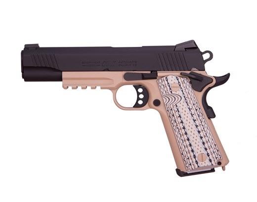 """COLT Colt Semper FI 45ACP BLK/FDE 5"""" NS G10 Grips Nigt Sights Rail 45ACP"""