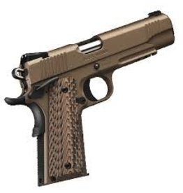 KIMBER Kimber Desert Warrior Desert Tan KimPro II .45acp 5in 1913 Picatinny Rail Night Sights Match Trigger G10 Brown Tactical Grips