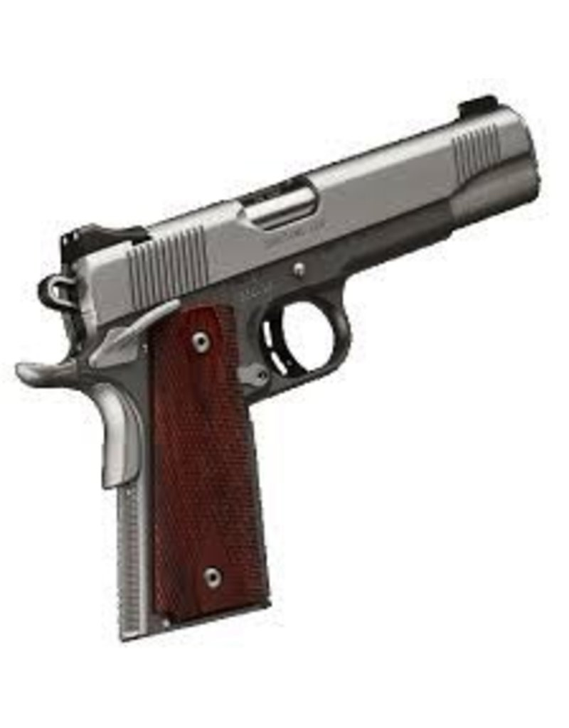 KIMBER Kimber Custom CDP Satin Silver Charcoal Gray Kimpro II .45acp Ambi Safety 1-7rd<br /> Rosewood Grips