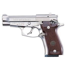 BERETTA Beretta Model 85 Cheetah 380ACP 8RD Walnut Grip Nickel Finish
