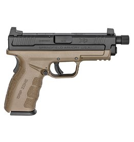 SPRINGFIELD Springfield Armory XD Mod.2 Service Model 9mm 4‰Û Threaded Barrel 1/2x28 TPI Forged Steel Slide with Melonite Finish Flat Dark Earth Frame 15RD Altered