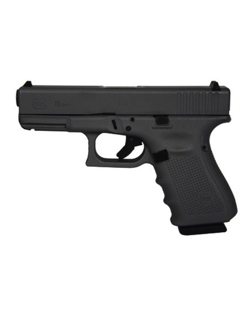 Glock Glock G19 Gen4 9mm 4.01‰Û USA Hot Cerakote Battleship Gray 3-15rd