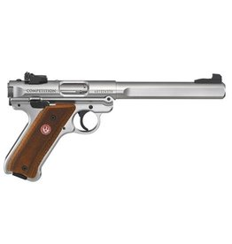 Ruger Ruger MKIV Competition .22LR 6.88in Satin Stainless 2-10rd Laminate Grips