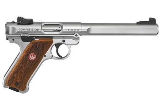 Ruger Ruger MK IV Competition .22LR 6.88in Satin Stainless 2-10rd Laminate Grips