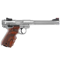 "Ruger Ruger MK IV Hunter Stainless 6.9""<br /> Fluted Barrel 2-10rd .22LR Laminate Finger Groove Grip"