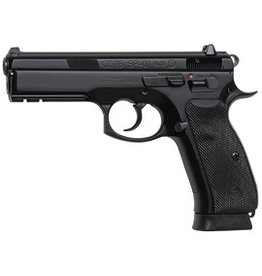 "CZ CZU CZ75 SP-01 9mm 4.7"" BLK Polycoat 2-15rd Altered"