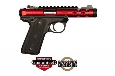 Ruger Ruger MK IV 22/45 Lite Red Anodized  Slide Threaded Barrel 10rd Mag