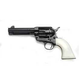 Taylor's & Co Taylor & Company Outlaw Legacy Revolver Blued Full Coverage Laser Engraving With Immitation Ivory Grips