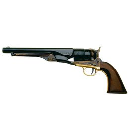 Taylor's & Co Taylor & Company Uberti 1860 Army .44 Blued Case Hardened Frame Cylinder Scene Steel Backstrap Brass Trigger .44 Cal Blackpowder Comes With Conversion  Cylinder For 45LC