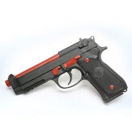 BERETTA Beretta 92A1 9mm 3-10rd<br />Italian Custom Cerakote Crimson Trim