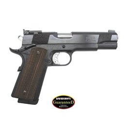 "Les Baer Les Baer Premier II .45acp Blued 5"" National Match Extended Ambi Safety Baer National Match Steel Frame Hand Checkered Front Strap 30 LPI Beveled Mag Well 8rd Mag"