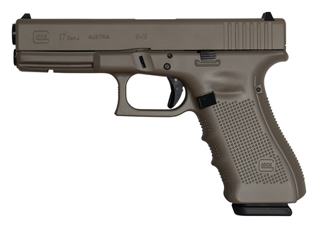 "GLOCK Glock G17 Gen4 Earth Cerakote Elite 9mm 4.48"" 3-15rd Alter"