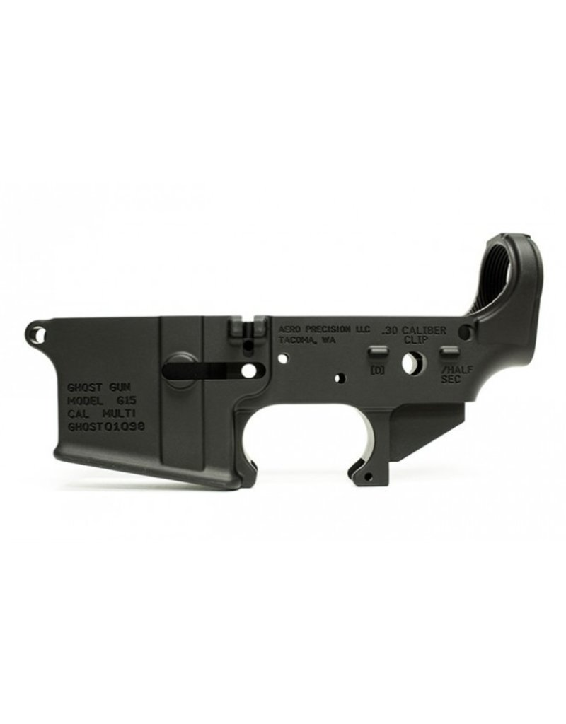 AeroPrecision Aero Precision G15 Ghost Gun Stripped Lower Receiver Multi Black