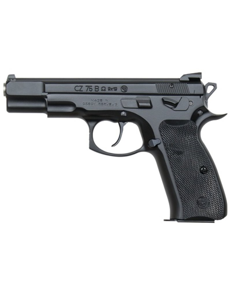 CZ CZ-USA 75 B Omega Convertible 9mm 4.6 Inch Barrel Fixed 3-Dot Sights Decocker/Safety Black Grips 15-RD Altered