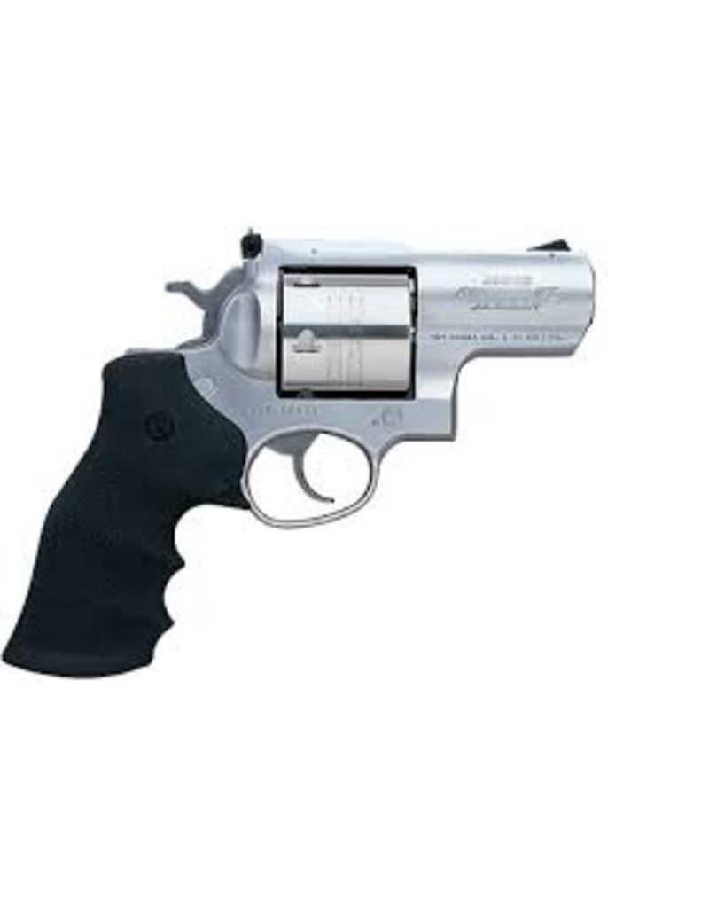"""Ruger Ruger Super Redhawk Alaskan 454 Casull 2.5"""" 6rd Satin Stainless Hogue Grips"""