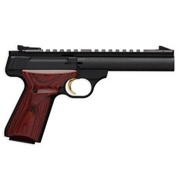 "Ruger Browning Buck Mark Field Target 5.5"" Heavy Barrel .22LR  Blued Finish Full Length Picatinny Rail Laminate Cocobolo Target Grips Pistol Rug 10Rd Mag"