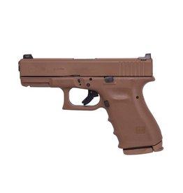 GLOCK Glock G19 RTF2 FDE 9mm Vickers <br /> Tactical Tritium Front Sight U Notch Rear 2-15rd Alter