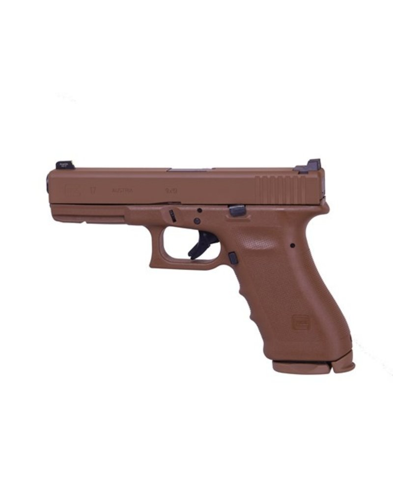 "GLOCK Glock G17 RTF2 9mm Full FDE Vickers Tactical 4.49"" Tritium Front Sight U Rear Notch 2-15rd Alter"