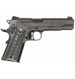 Sigsauer Sig Sauer Model 1911 We The People .45 ACP 5 Inch Barrel Distressed Stainless Steel Frame Siglite Night Sights Star Grips Engraved Slide 7 Round