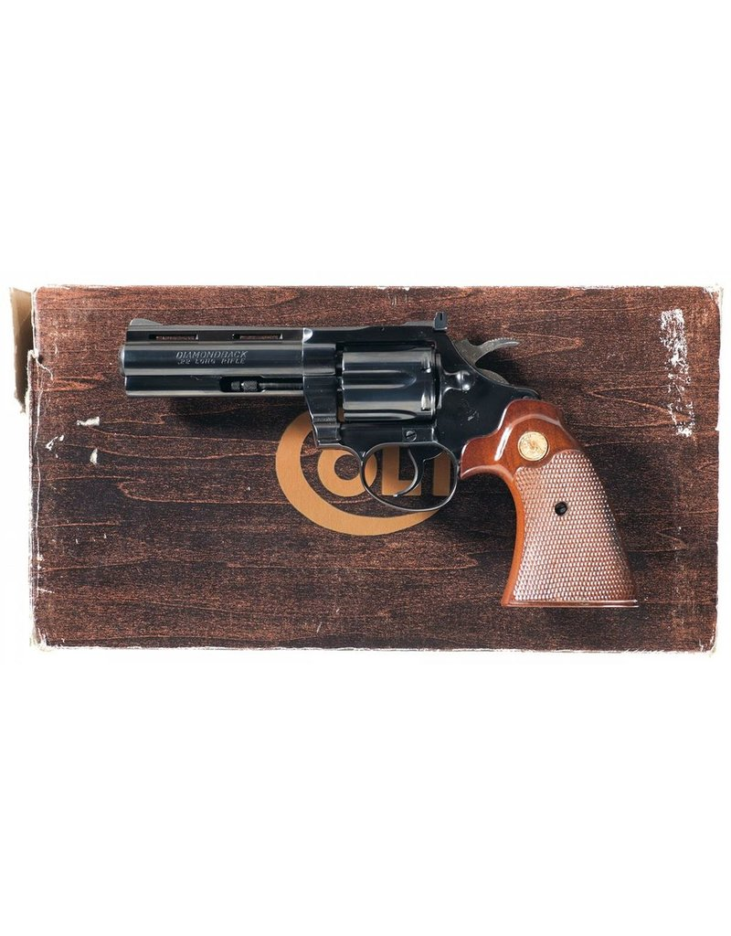 COLT Colt Diamondback 38spl Blued 4 inch 6rd Factory Box Is Not Matching