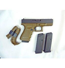 """GLOCK Glock 19 Gen4 MOS 9mm 4.01"""" OD Green 3-15rd"""