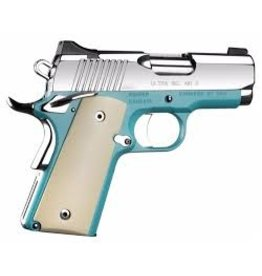 KIMBER Kimber Micro 9 Bel Air 9mm 4.07 Inch Ivory Micarta Grips Mirror Polished Slide 6rd