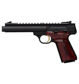 Browning Browning Buckmark Field Target Supressor Ready 5.5 Inch Threaded Barrel Matt Blue Finish Cocobolo Laminate Target Grips 1-10 rd